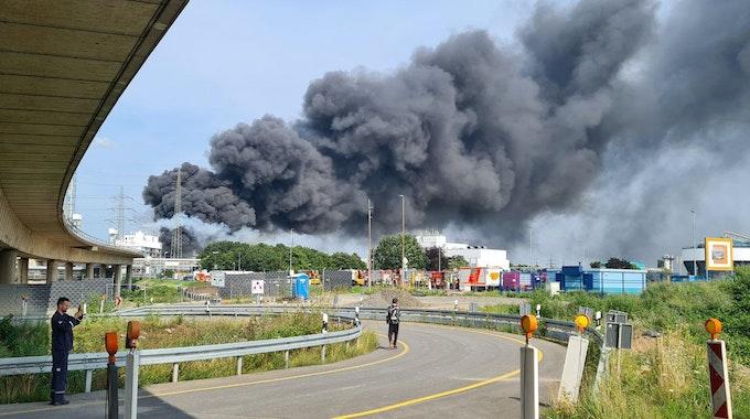 Explosion in Leverkusen im Chempark 2021
