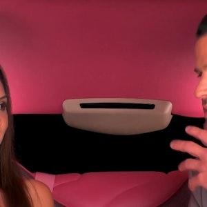 "Rocco Stark und Kandidatin Rashin beim Limousinen-Date bei ""Take Me Out XXL"" am 27. Juli Screenshot am 28. Juli"