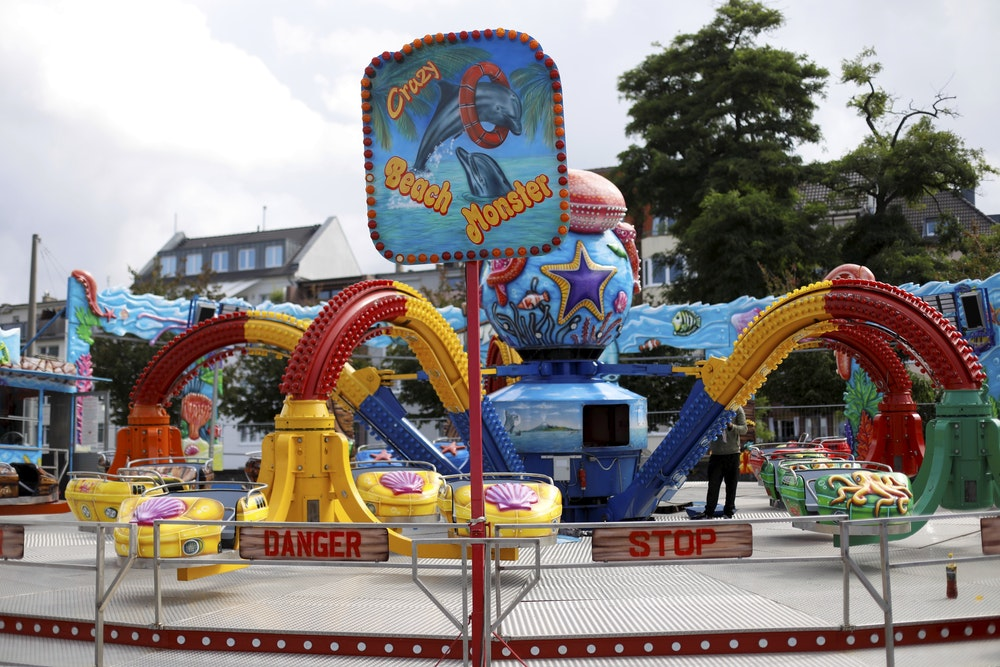 """Ein Karussell auf dem Freizeitpark """"Happy Colonia"""""""