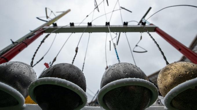 Hammer hängen in einem Ständer. Bei einem Trainingsunfall verstarb eine Nachwuchsathletin.