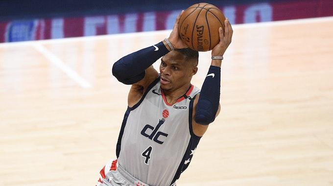 Ex-Washington-Wizards-Guard Russell Westbrook im Spiel gegen die Philadelphia 76ers.