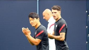 Hwang und Szoboszlai standen am Freitag wieder im Training von RB Leipzig.