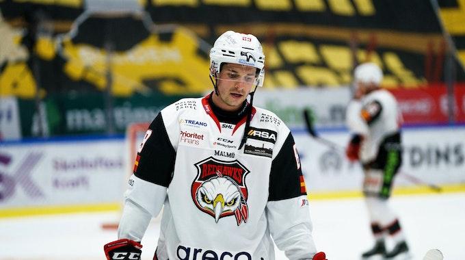 Quinton Howden im Einsatz für die Malmö Redhawks.