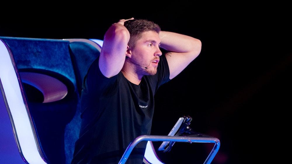 "Joey Heindle in der RTL-Show ""The Wheel - Promis drehen am Rad"""