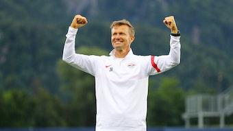 RB-Trainer Jesse Marsch war mit dem Trainingslager in Saalfelden zufrieden.