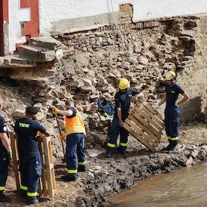 Das Hochwasser hat erhebliche Schäden in der Eifel angerichtet.