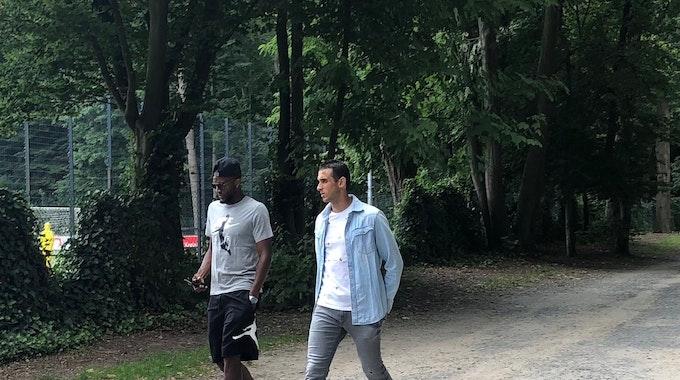 Anthony Modeste und Ellyes Skhiri kommen solo zum Grillfest des 1. FC Köln.