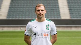 Gladbachs Tony Jantschke posiert am 1. August 2021 beim Media Day im Borussia-Park fürs Fotos.