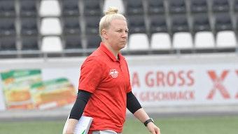 Katja Greulich, Trainerin von RB Leipzig.