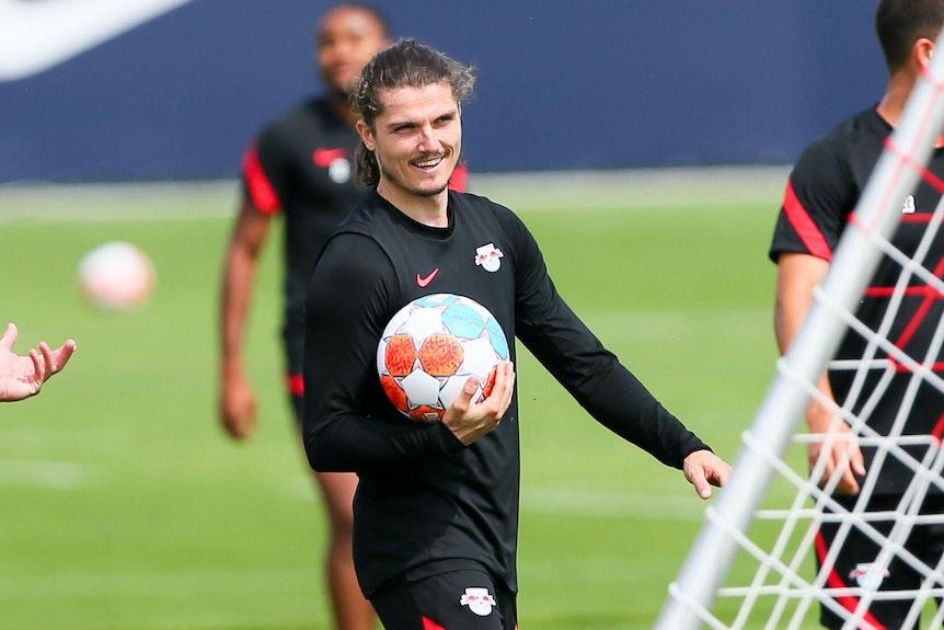 Marcel Sabitzer im Training von RB Leipzig.