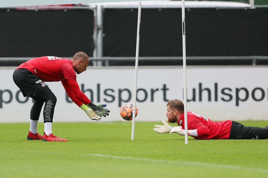 Marvin Schwäbe und Timo Horn trainieren beim 1. FC Köln.