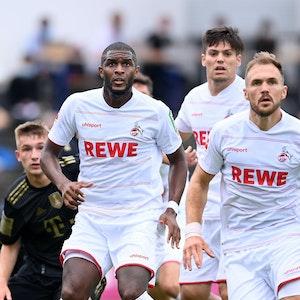Anthony Modeste und Rafael Czichos spielen für den 1. FC Köln gegen den FC Bayern München.