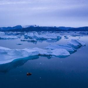 Eine wichtige Atlantik-Strömung (hier in Grönland 2019), zu der auch der Golfstrom gehört, nähert sich womöglich einer kritischen Schwelle.