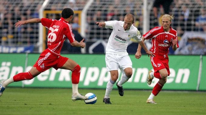 Tobias Werner spielt mit Carl Zeiss Jena gegen den 1. FC Köln.