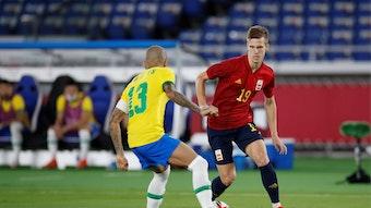 Niederlage gegen Dani Alves und Brasilien im Olympia-Finale: RB-Spieler Dani Olmo (r.)