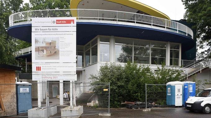 Das Parkcafé im Kölner Rheinpark ist derzeit noch eine Baustelle.