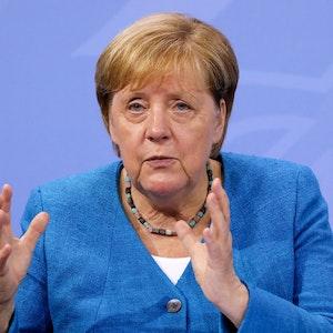 Bundeskanzlerin Angela Merkel (CDU) informiert bei einer Pressekonferenz am 10. August über die Ergebnisse des Corona-Gipfels von Bund und Ländern.