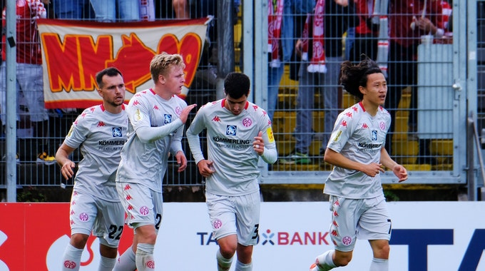 Pokalduell SV Elversberg - 1. FSV Mainz 05 in der Ursapharm-Arena.