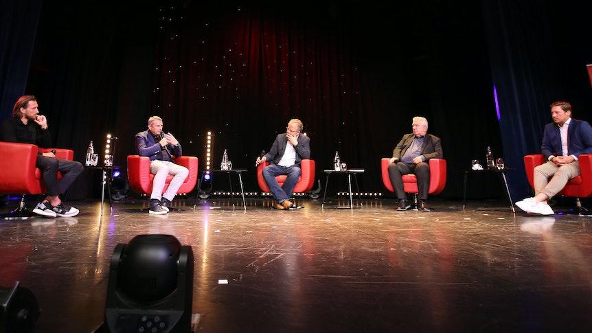 EXPRESS Talk im Apollo Düsseldorf Fortuna Duesseldorf mit Klaus Allofs, Peter Frymuth, Patrick Scherer 09.08.2021
