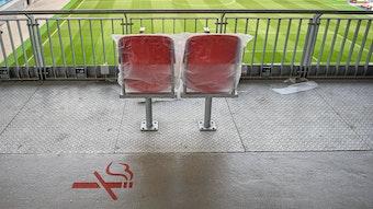 Blick in die leere Leipziger Arena
