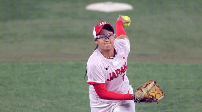 Miu Goto beim Spiel zwischen Japan und den USA bei den Olympischen Spielen.