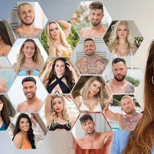 """Jetzt gab es den ersten Sex: Die Kandidaten von """"Are You The One - Reality Stars in Love"""", gemeinsam mit Moderatorin Sophia Thomalla."""