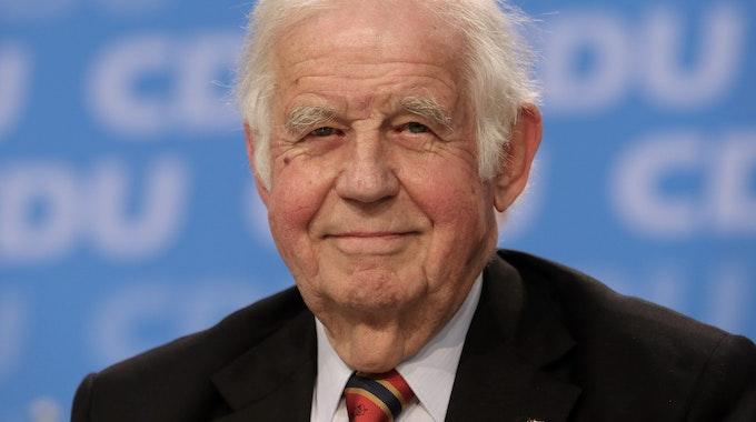 Kurt Biedenkopf aufgenommen am 13.06.2015 in Essen (Nordrhein-Westfalen) auf dem 37. Landesparteitag der CDU.