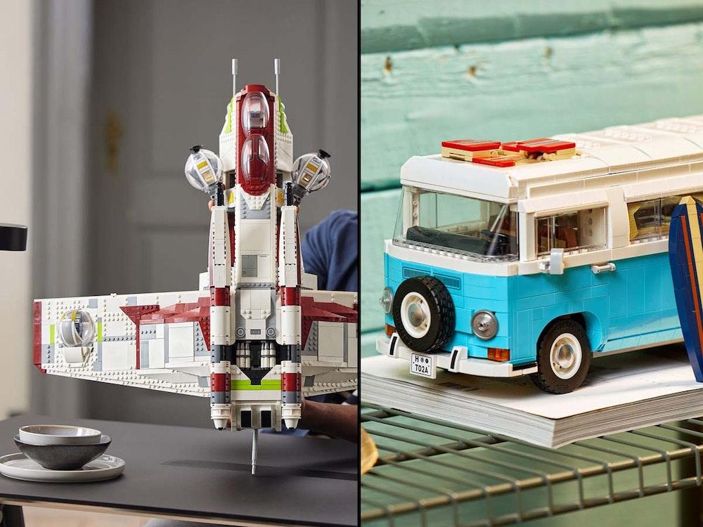 Lego Neuheiten August 2021, Lego-Star-Wars Republic Gunship und Volkswagen T2 Campingbus.