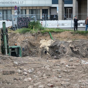 Die Weltkriegsbombe wurde in Dortmund gesprengt. Das Foto zeigt den Fundort am Sonntag (15. August 2021).