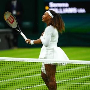 Tennis-Profi Serena Williams aus den USA beim Turnier in Wimbledon.