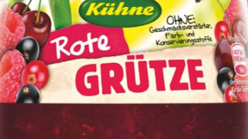 Produktrückruf des Lebensmittelherstellers Kühne zu Kühne Rote Grütze 375 g Glas.