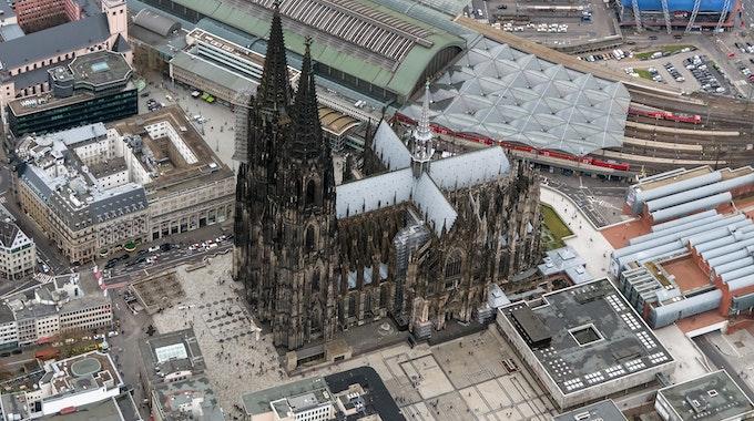 Der Kölner Dom von oben.