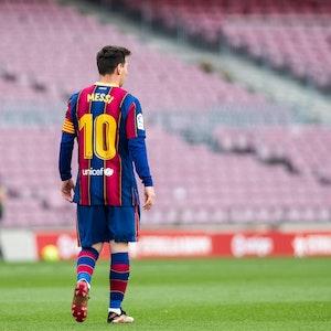 Lionel Messi beim LaLiga-Spiel gegen Celta Vigo im Trikot des FC Barcelona.
