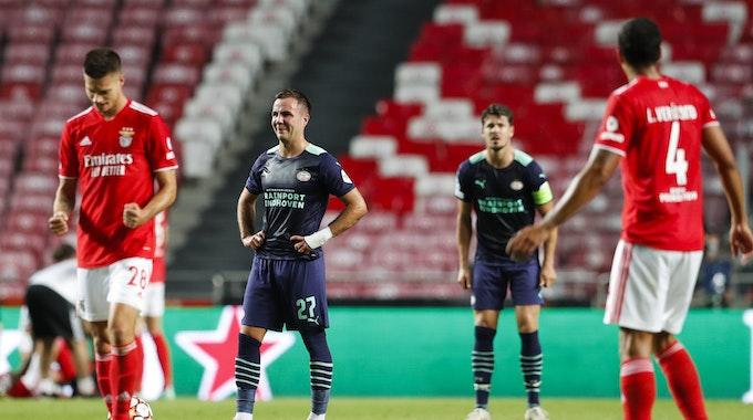 Mario Götze und Julian Weigl bei Benfica Lissabon gegen PSV Eindhoven.