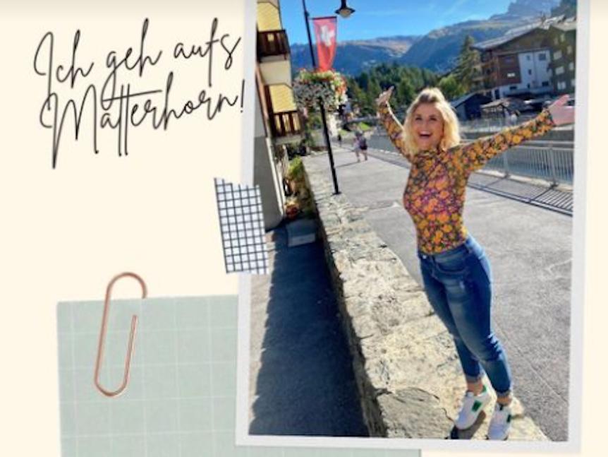 Beatrice Egli nimmt ihre Instagram-Fans bei ihrer Matterhorn-Vorbereitung mit.