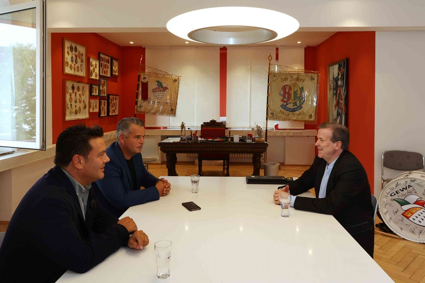 EXPRESS-Interview mit Christoph Kuckelkorn in seinem Büro.