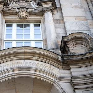 Der Eingang zum Oberlandesgericht Düsseldorf.