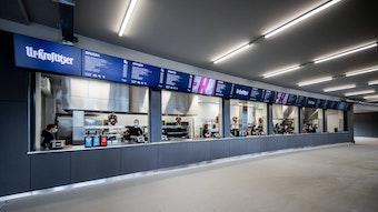 Müssen geschlossen bleiben: Die neuen Kioske im Stadion von RB Leipzig.