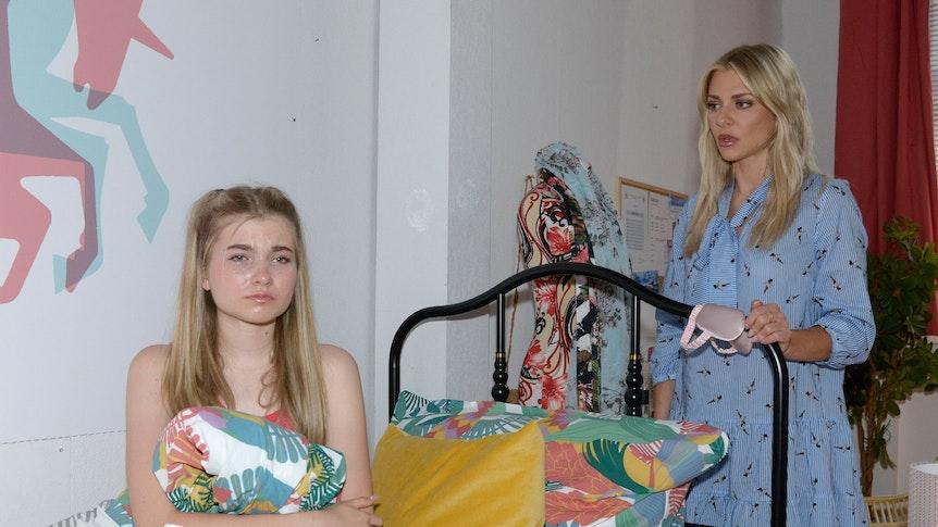 Valentina Pahde, hier als GZSZ-Sunny, erkennt das wahre Problem von Johanna (Charlott Reschke)