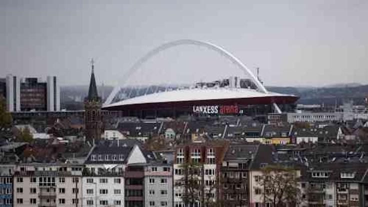 Die Kölner Lanxess-Arena gehört zu den größten Eventhallen der Welt.