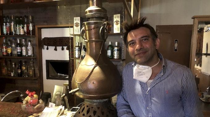 Kölner Gastronom Suleiman Samae im Restaurant Kabul
