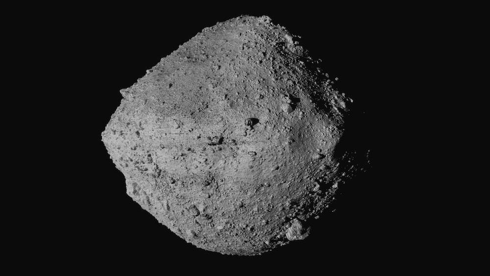 Gambar menunjukkan asteroid Bennu pada gambar NASA