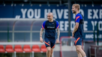 Angelino und Laimer mussten am Dienstag mit dem Training bei RB Leipzig pausieren.