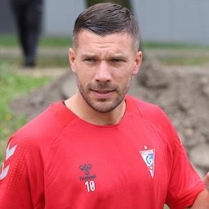 Lukas Podolski im Training bei Gornik Zabrze