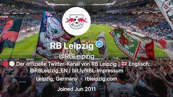 Keine Roten Bullen mehr bei Twitter: Der neue Auftritt von RB Leipzig im Social Web.