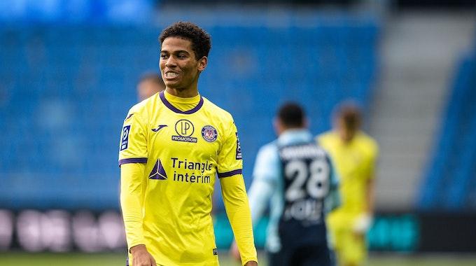 Amine Adli vom FC Toulouse während des Spiels gegen Le Havre.