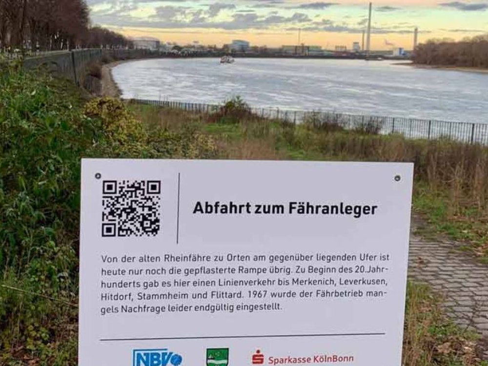 Anlegestelle in Köln-Stammheim für die neue Fährverbindung