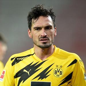 Fußball: Bundesliga, 1. FC Union Berlin - Borussia Dortmund, 13. Spieltag im Stadion Alte Försterei. Mats Hummels von Dortmund.