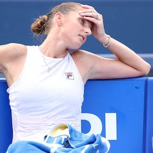 Tschechin Karolina Pliskova muss ohne Trainer bei den US Open antreten.