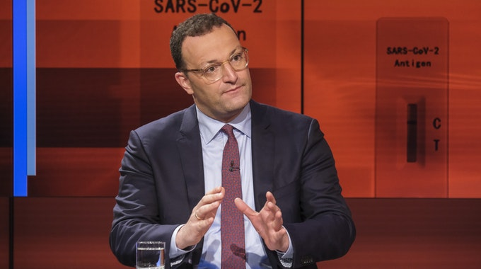 """ARD/""""hart aber fair"""" vom 30.08.2021 mit Jens Spahn (CDU, Bundesgesundheitsminister)"""